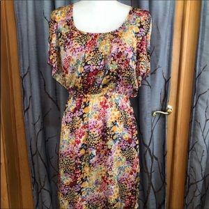 Oleg Cassini M Short sleeve dress Floral pattern